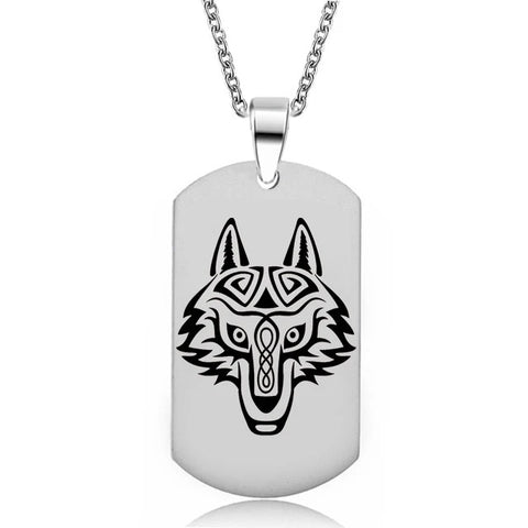 Military Nordic Wolf Necklace - American Wolves