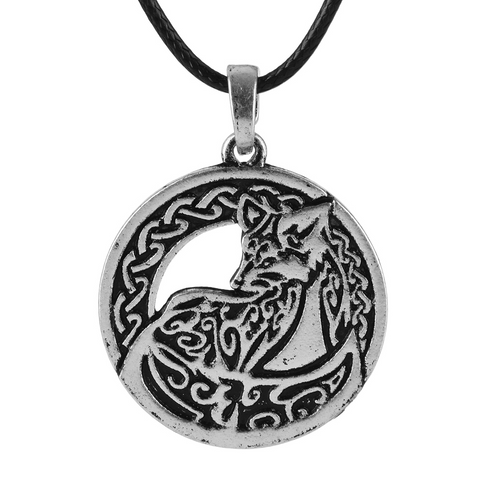 Nordic Silver Wolf Necklace - American Wolves