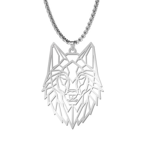 Origami Head Wolf Necklace - American Wolves