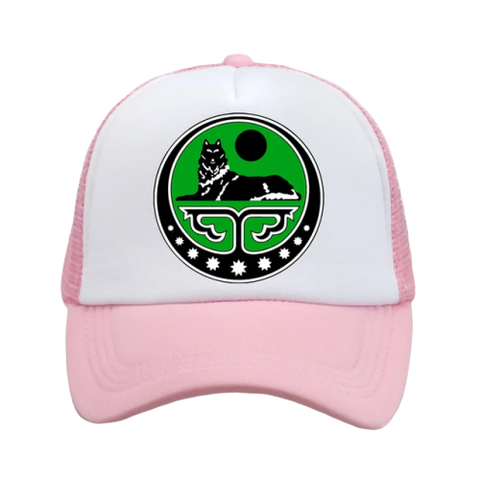 Pink Leisure Trucker Wolf Hat - American Wolves