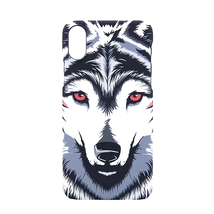 Phosphorescent Red Eyes Wolf Phone Case - American Wolves