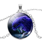 Reflection Silver Wolf Necklace - American Wolves