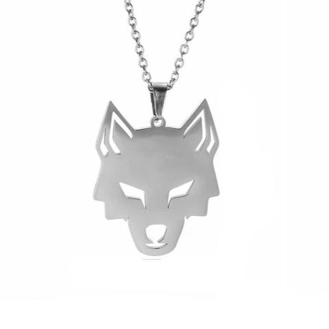Silver Focus Wolf Necklace - American Wolves