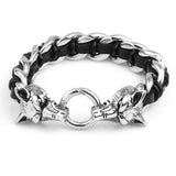 Sköll Double Headed Wolf Bracelet - American Wolves