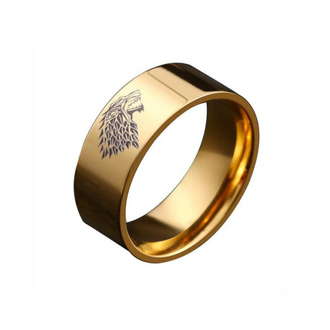 Stark Gold Wolf Ring - American Wolves
