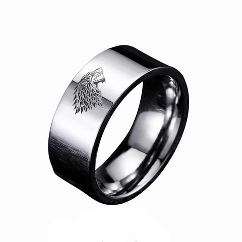 Silver Stark Wolf Ring - American Wolves