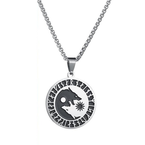 Yin Yang Wolf Necklace - American Wolves