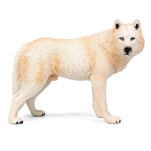 White Alpha Wolf Figurine - American Wolves