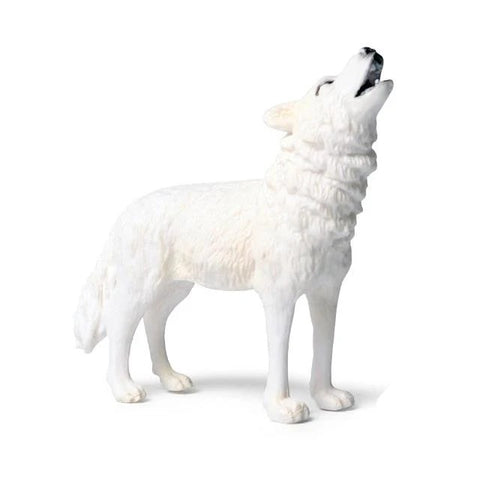 White Roaring Wolf Figurine - American Wolves