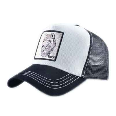 White Trucker Wolf Hat - American Wolves