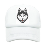 White Trucker Timber Wolf Hat - American Wolves