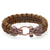 Woven Rope Wolf Bracelet - American Wolves