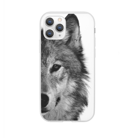 Black & White Wolf Phone Case - American Wolves