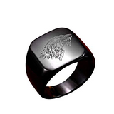 House Stark Wolf Signet Ring - American Wolves