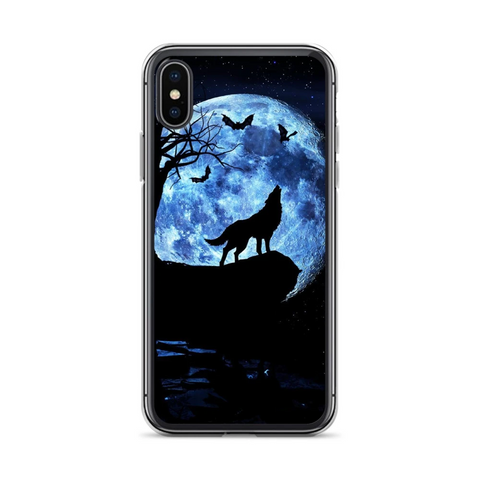 Blue Moon Wolf Phone Case - American Wolves