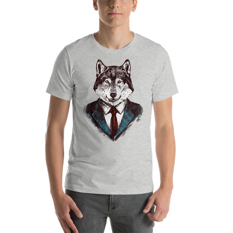 Business Wolf T-Shirt - American Wolves
