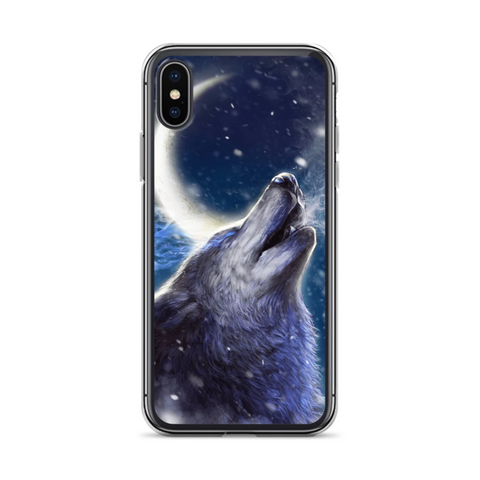 Lunar Drawn Wolf Phone Case - American Wolves
