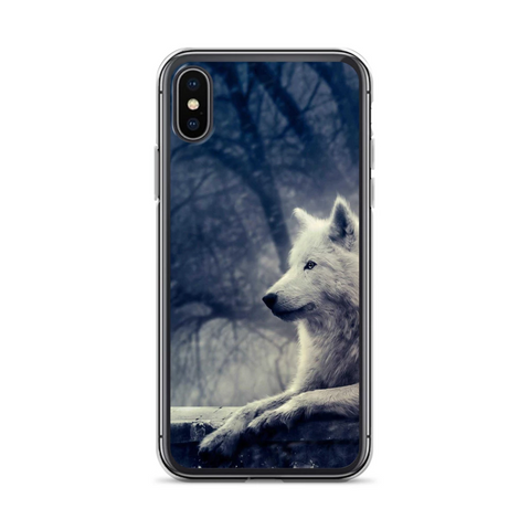 Forest White Wolf Phone Case - American Wolves