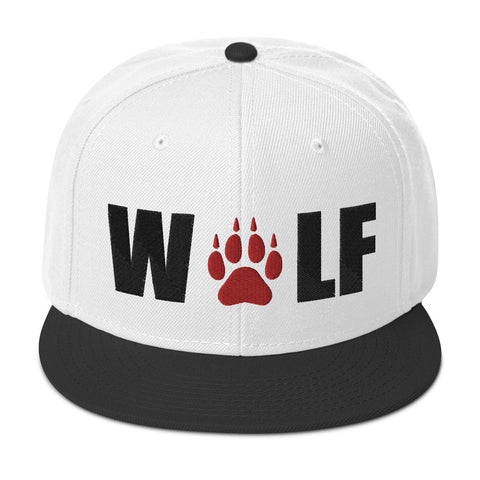 Embroidered Paw Snapback Wolf Hat - American Wolves