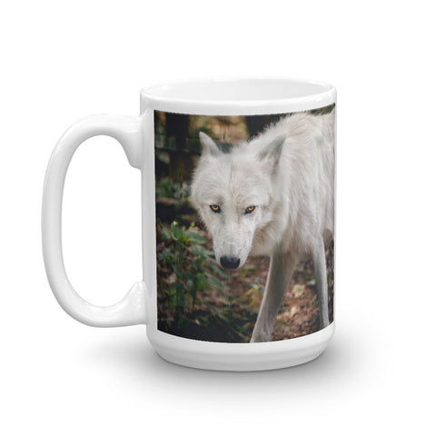 Great White Wolf Mug - American Wolves