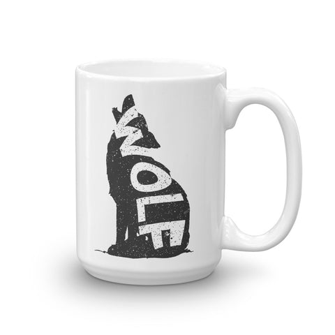 Wolf on Wolf Mug - American Wolves