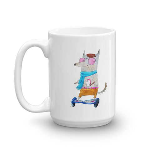 Cartoon Hipster Wolf Mug - American Wolves