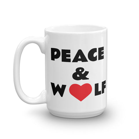 Peace and Wolf Mug - American Wolves