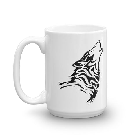 Morning Howling Wolf Mug - American Wolves