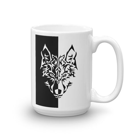 Black and White Wolf Mug - American Wolves