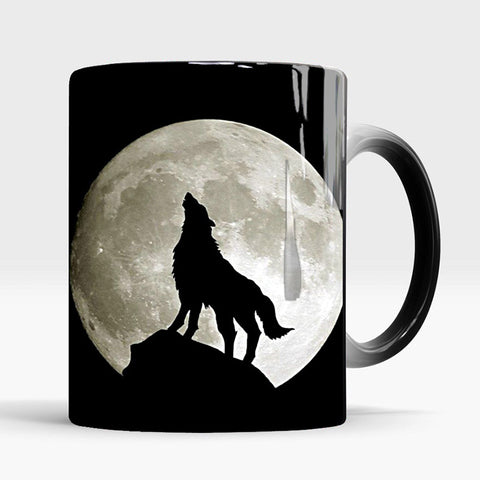 Heat Sensitive Wolf Mug - American Wolves