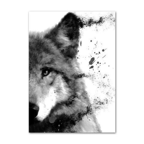 Fight Or Flight Wolf Wall Art - American Wolves