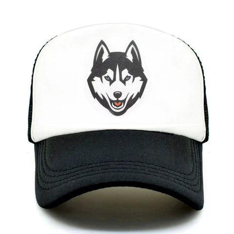 Black Trucker Timber Wolf Hat - American Wolves