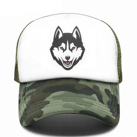 Camouflage Trucker Timber Wolf Hat - American Wolves