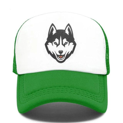 Green Trucker Timber Wolf Hat - American Wolves