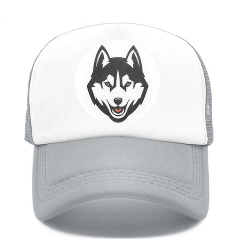 Gray Trucker Timber Wolf Hat - American Wolves