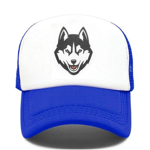 Blue Trucker Timber Wolf Hat - American Wolves
