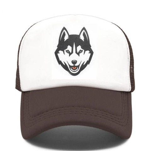 Brown Trucker Timber Wolf Hat - American Wolves