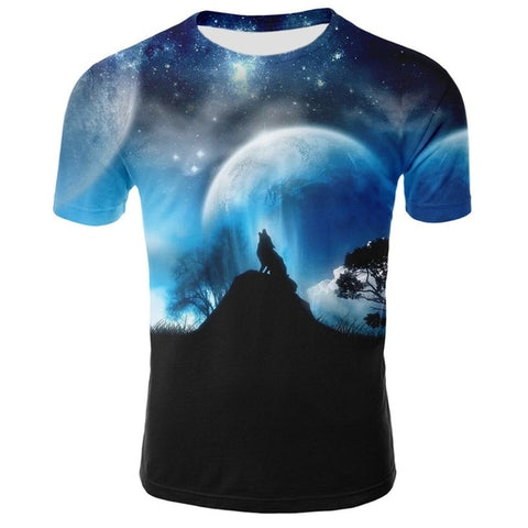 Moon Shadow Wolf T-Shirt - American Wolves