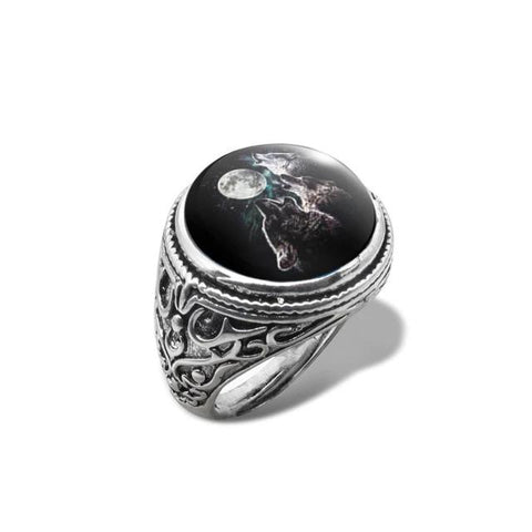 Moon Trio Wolf Ring - American Wolves