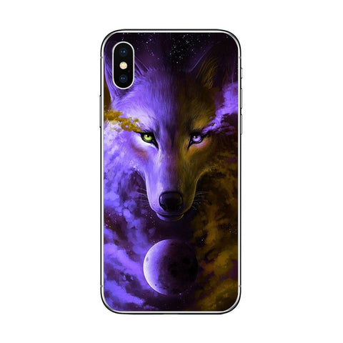 Purple Space Conquest Wolf Phone Case - American Wolves
