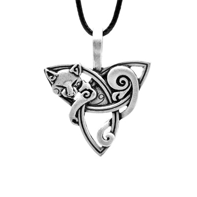 Triquetra Spirit Wolf Necklace - American Wolves