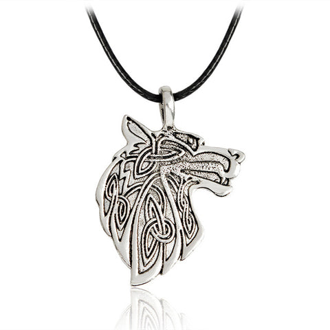 Viking Style Wolf Necklace - American Wolves