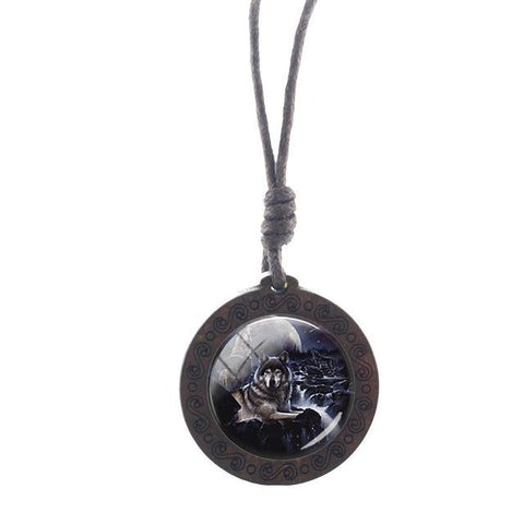 Charm The Watcher Wolf Necklace - American Wolves