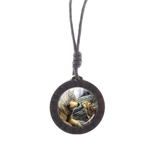 Charm Mother Wolf Necklace - American Wolves