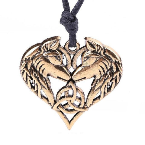 The Original Lovers Bronze Wolf Necklace - American Wolves