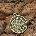 Fenrir Runic Copper Wolf Necklace - American Wolves