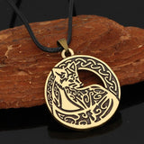 Nordic Copper Wolf Necklace - American Wolves