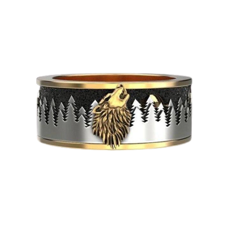 Retro Forest Wolf Ring - American Wolves