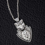 Guidance Silver Wolf Necklace