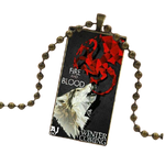 Fire and Blood Gold Wolf Necklace